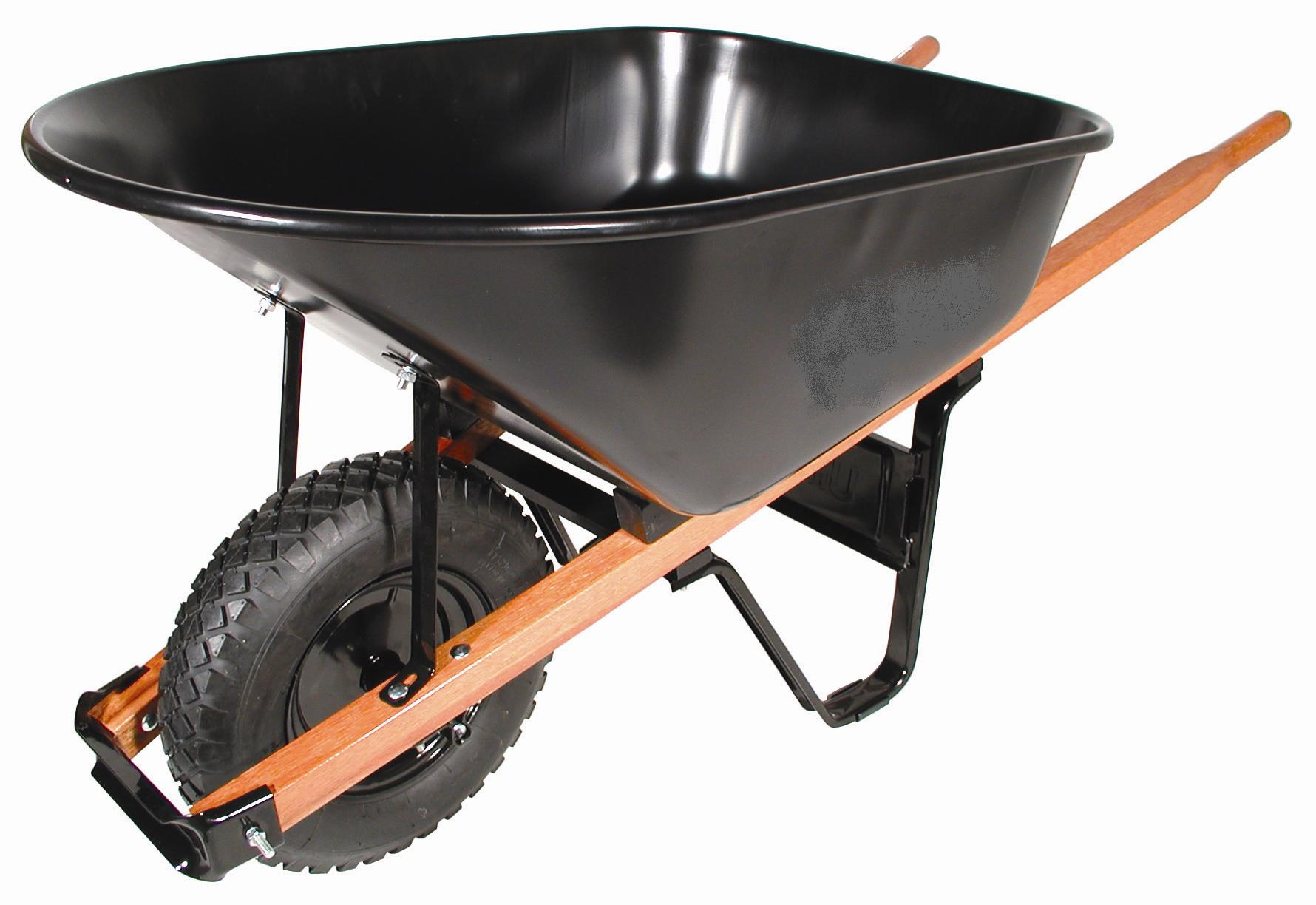 6 CU FT WHEELBARROW w/ 4 PLY KNOBBY TIRE
